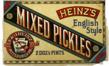 Mixed pickles of F.&J. Heinz