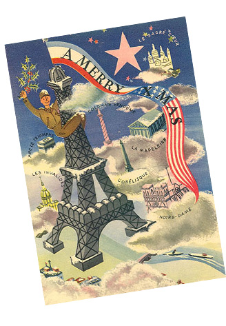card given out to American troops in Paris 1944