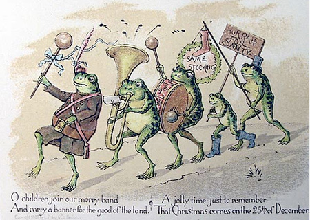 Christmas card. Louis Prang. Late 18th century.