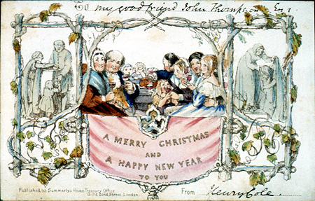 John Calcott Horsley. Christmas Card.