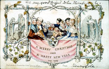 John Calcott Horsley. Christmas Card.